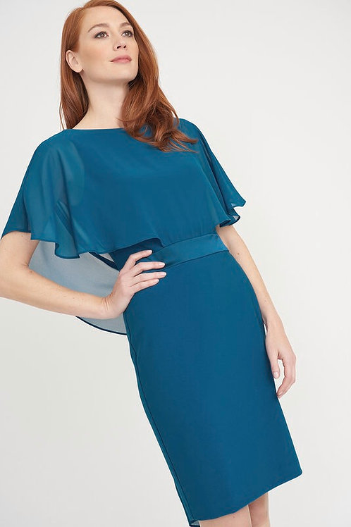 Joseph Ribkoff Blue Chiffon Top Dress