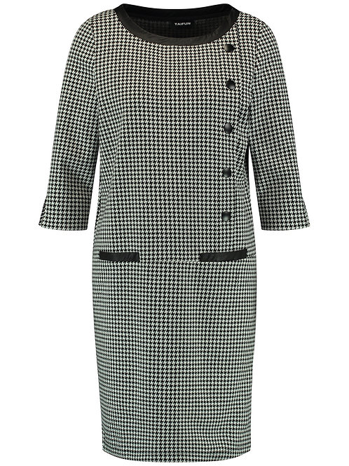 Taifun - dogtooth print smart dress