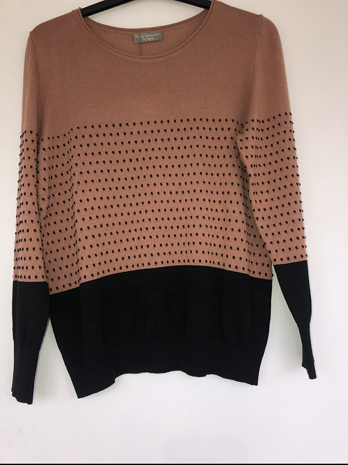 Maria Bellentani - brown and black spotted knit