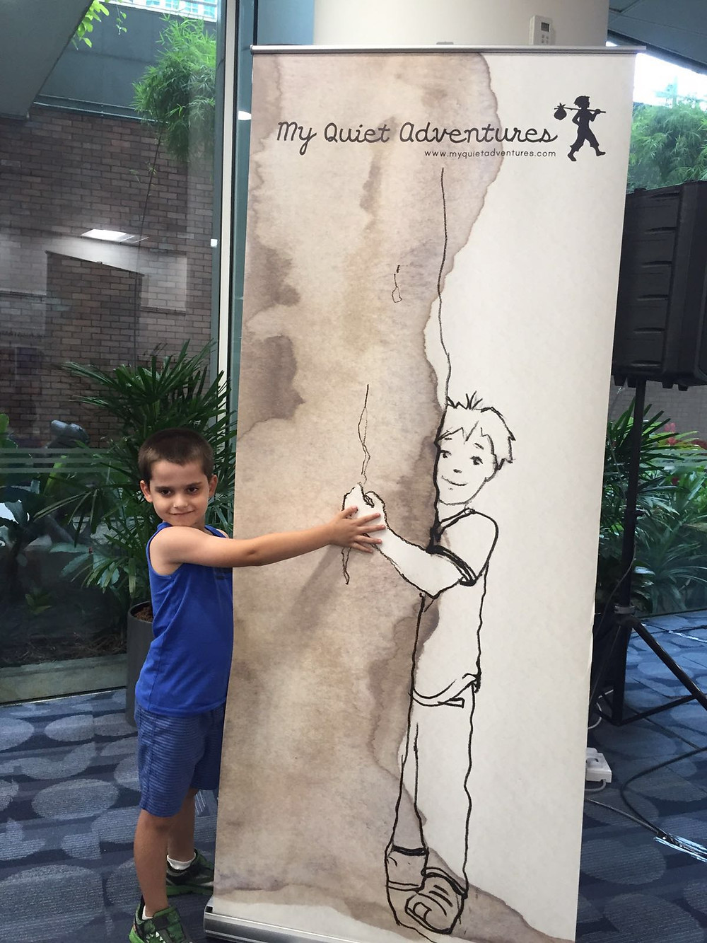 My son and Oliver at the AFCC - My Quiet Adventures, Picture Books for the Highly Sensitive Child