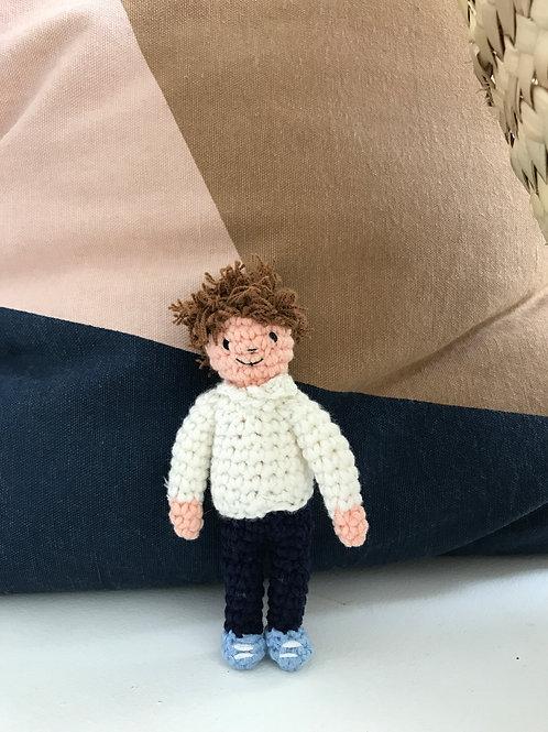 Oliver - Handmade Crochet Doll - Small