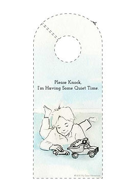 My Quiet Adventures, Picture Books for Highly Sensitive Children - Please Knock, DIY Doorsign
