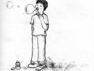 #SketchySunday: A Boy and His Bubbles