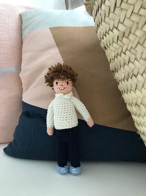 Oliver - Handmade Crochet Doll - Large