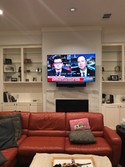 TV Over Fireplace on Nexus Arm Bracket