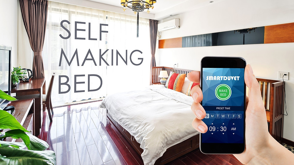The world's first, easy and universal bed making solution.