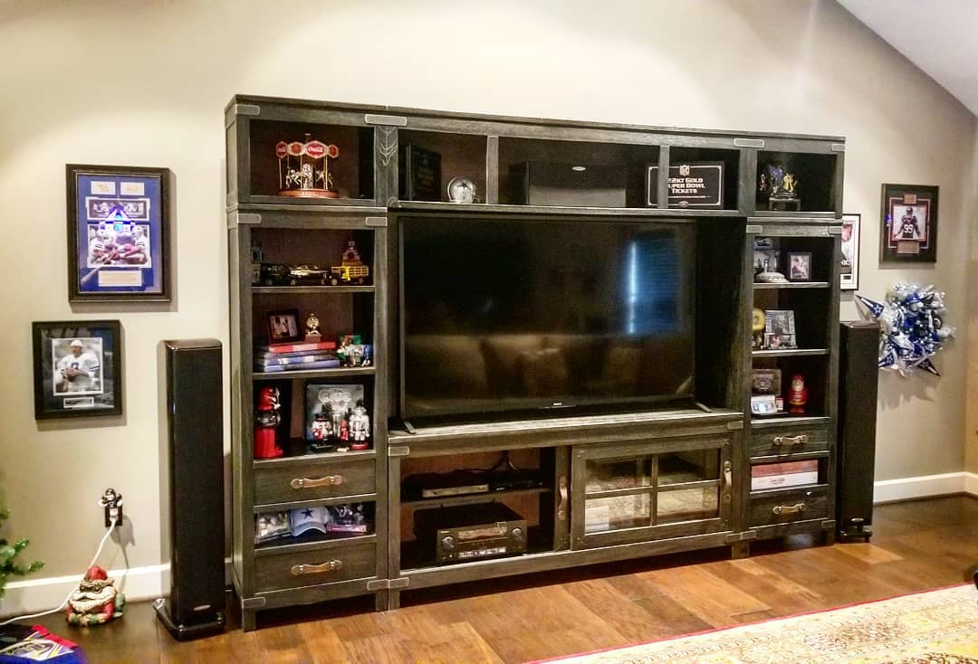 The TV needed to be big & the sound needed to be loud.