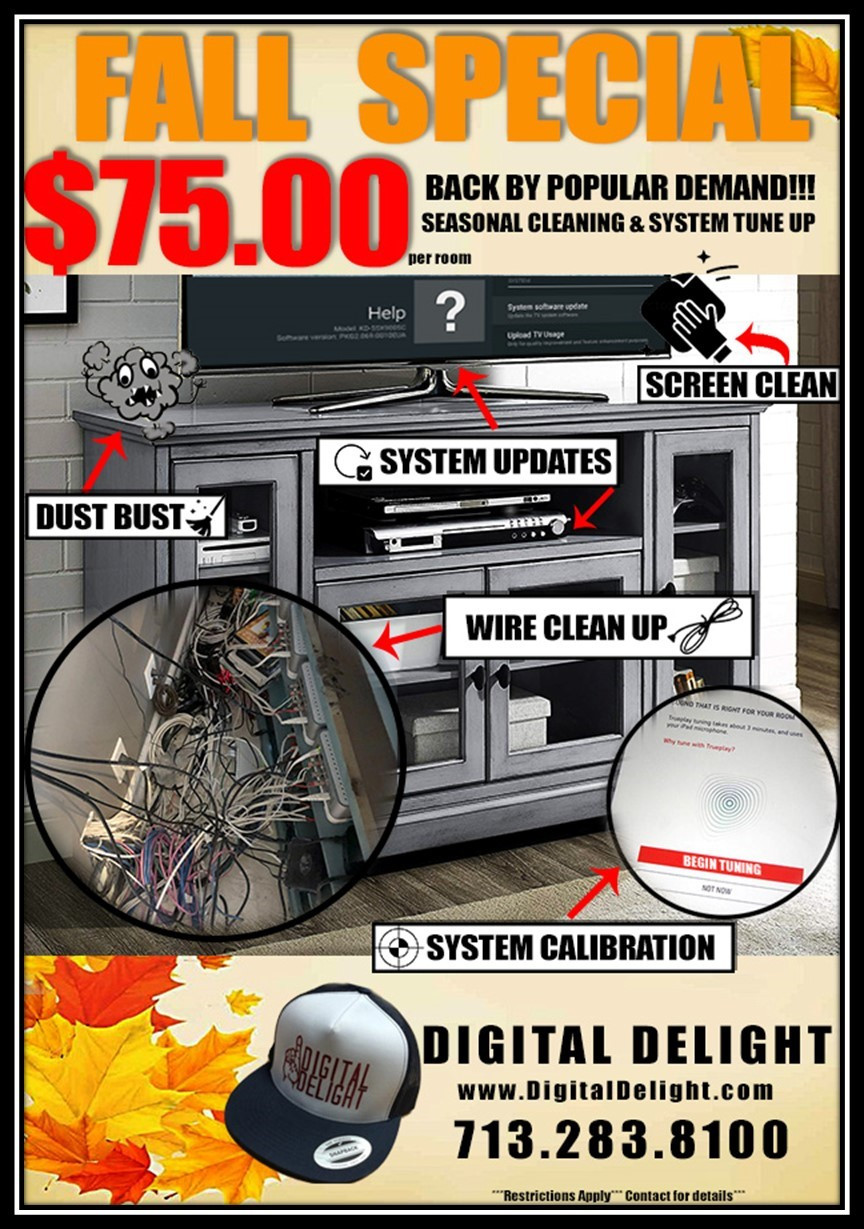 Fall Special: A/V System Cleaning & Tune-Up