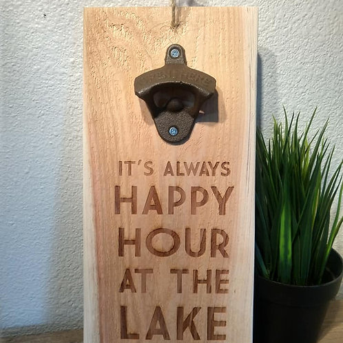 It's always happy hour at the lake