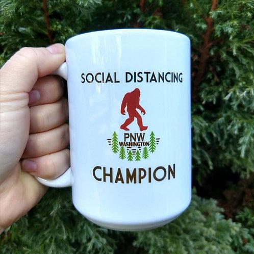 Social Distancing Champion Coffee Mug