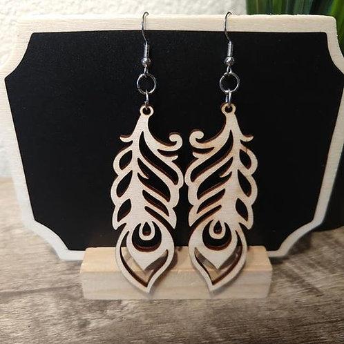 Birch Wood Earring