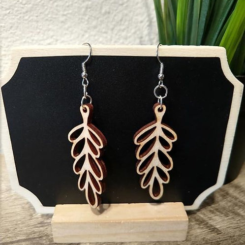 Birch Wood Earring