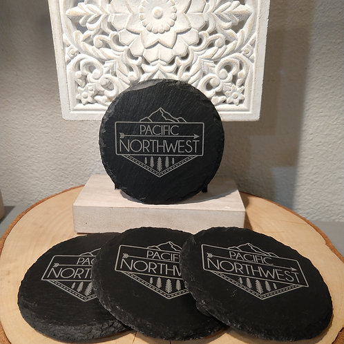 Pacific Northwest Slate Coasters