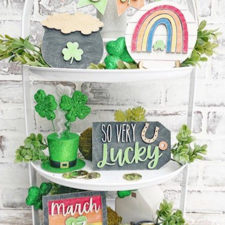 St. Patrick's Day Tiered Tray DIY kit