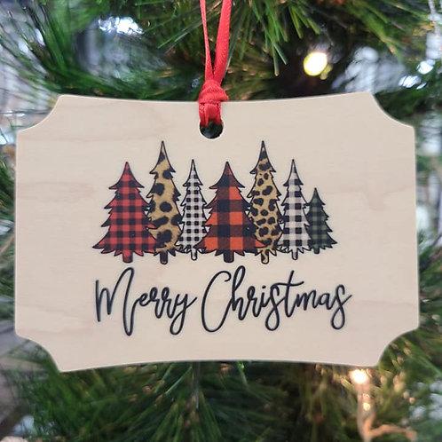 Merry Christmas Trees Ornament