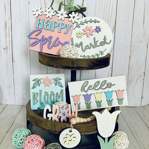 Spring Tiered Tray DIY kit