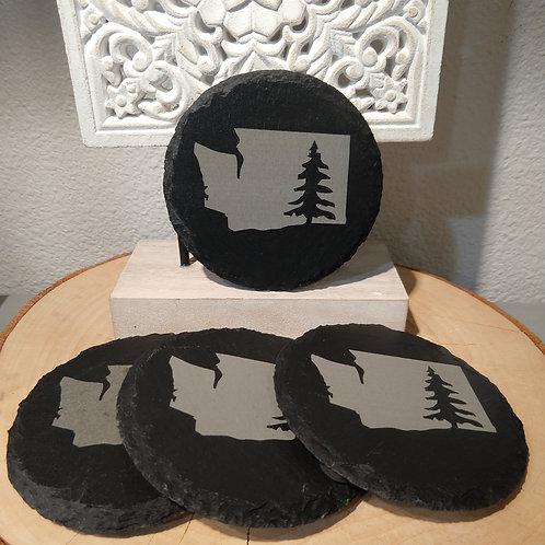 Washington State Tree Slate Coasters