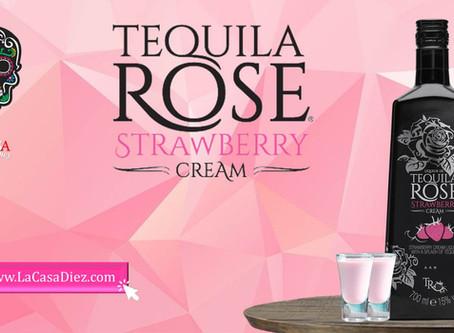 TEQUILA ROSE STRAWBERRY, una crema de licor con un toque de Tequila.