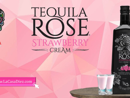 TEQUILA ROSE STRAWBERRY, una crema de licor con un toque de Tequila.