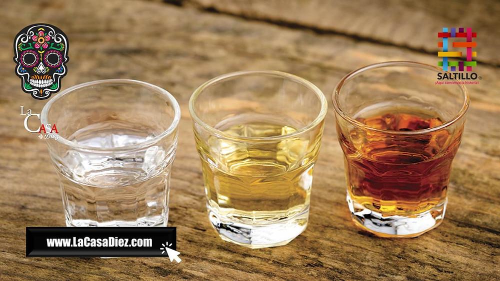 Tequila Blanco, Tequila Añejo y Tequila Reposado