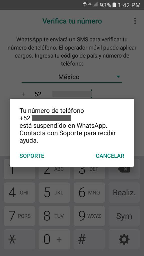 Baja de WhatsApp Business