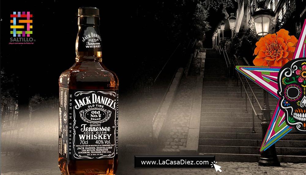 Coctelería Whisky Jack Daniels día de Muertos