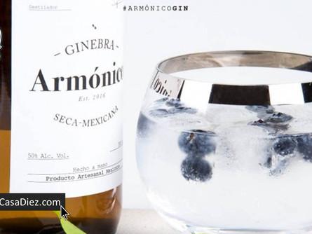 GIN ARMONICO, Ginebra Artesanal 100% Mexicana
