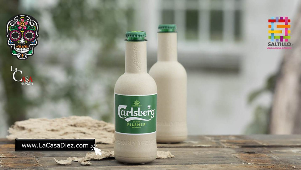 Cerveceria Carlsberg Botella de Papel