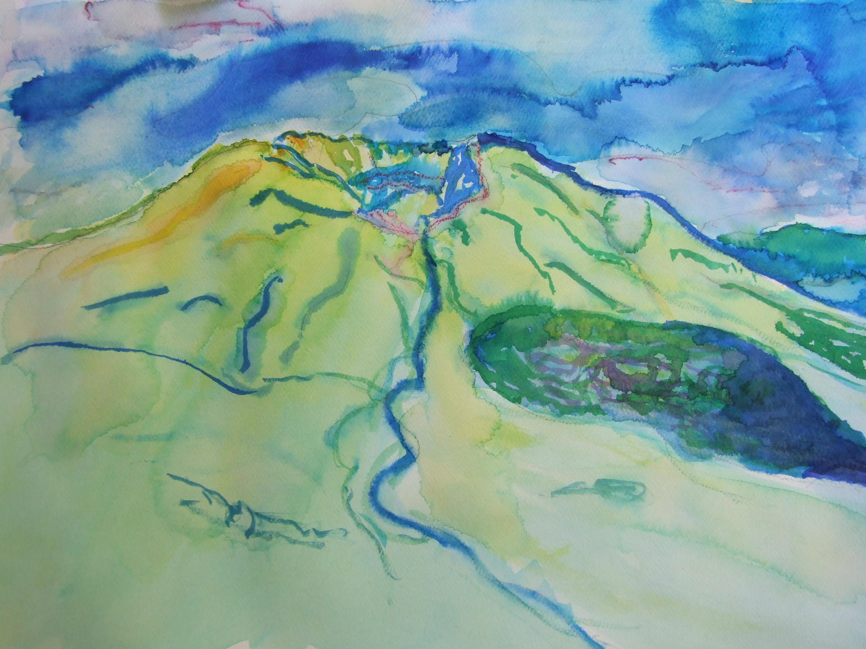Watercolor Mountian