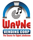 Wayne Vending Logo - digital jukebox rental for bars Paterson, NJ