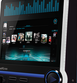 Wall-mounted digital jukebox