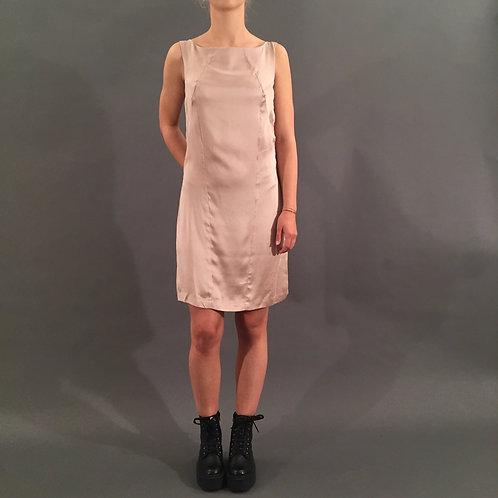 Nude Silk Dress, Gr. M, neu