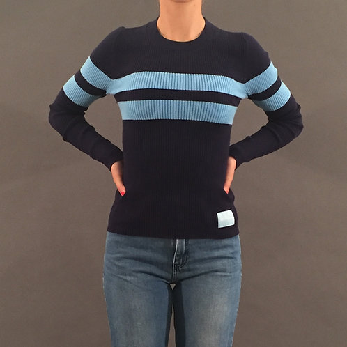 Doppelripp Pullover Calvin Klein blue