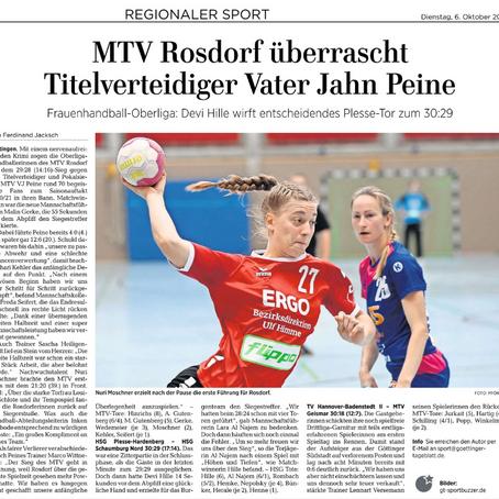 Handball Damen Oberliga Süd - 1. Spieltag