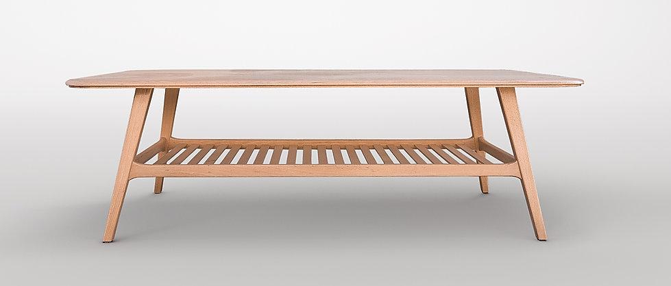 שולחן סלון מעץ מלא בעיצוב סקנדינבי
