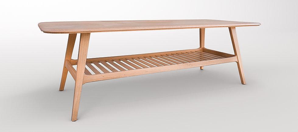 שולחן לסלון מיוחד עם מדף
