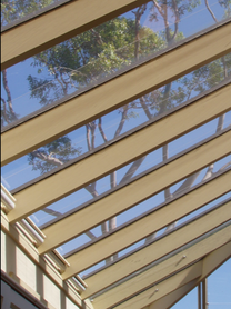 Grovewood blinds - self supporting conservatory blinds 45 degree angle