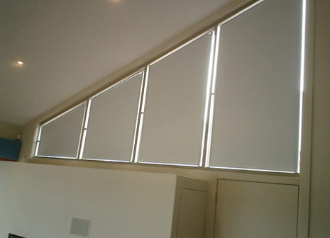 Grovewood blinds - side mounted conservatory blinds - irregular polygon window