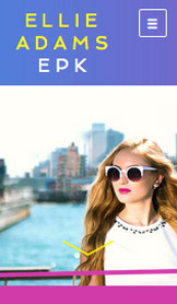 Music Promotion website templates – Press Kit - Pop Singer