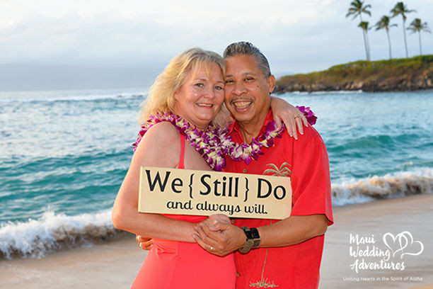 Maui Love Story: Surprise Vow Renewal Ceremony on Maui