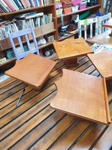 St Francis Bible stands. Recycled Silky