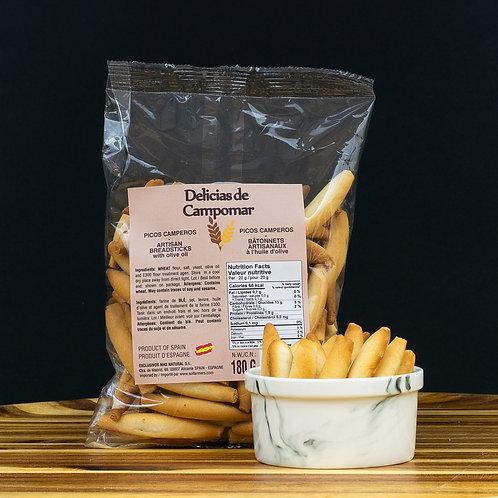 "Artisan Artisan bread sticks with olive oil ""Picos Camperos""  180 gr"