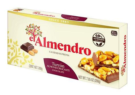 El Almendro Crocanti Turron with Chocolate 75g
