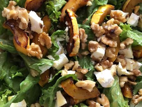 Warm delicata squash salad with Moscatel vinegar