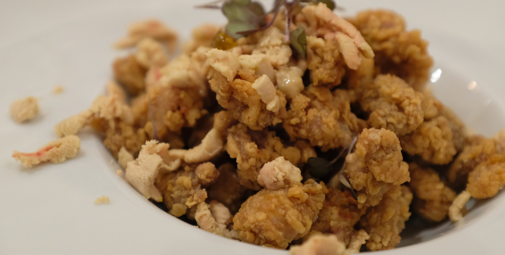 Mollejas tostadas con foie