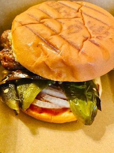 Vegan Sausage Eggplant Burger