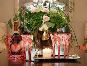 Festive elegance - Rachel Bates x Champagne Laurent-Perrier crystal glassware set