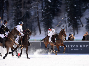 Action on the ice – St. Moritz Snow Polo World Cup tournament 2019