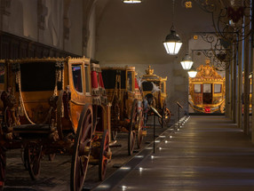 Grandeur of the imperial ride – 'The Gallery of Coaches', Château de Versailles, Paris