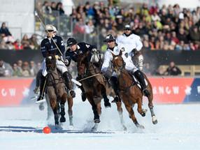 White knights on St. Moritzersee  – St. Moritz Snow Polo Tournament 2018, St. Moritz
